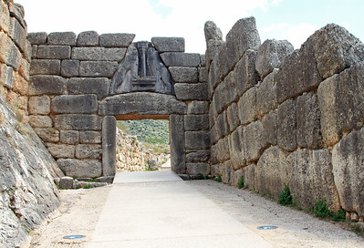 The Lion Gate, entrance to the Palace at Mycenae.