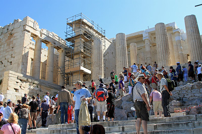 The Prophylaxis, the entrance and steps up to the Acropolis.
