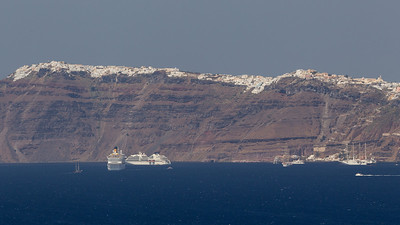 Fira, Santorini ... seen from a distance.
