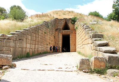 The Treasury of Atreus, a tomb for an unknown  Mycenaean king.