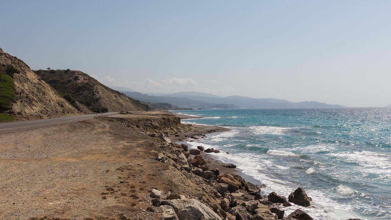 Rhodes northern coastline