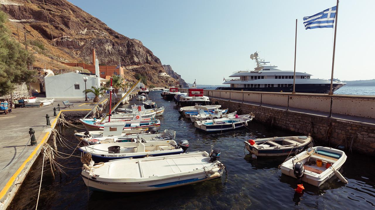 Fira harbor, Santorini