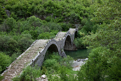 Three arched stone bridge, of the 18th century near Kipoi (Greek: Κήποι), CZ 35-70 at F11.