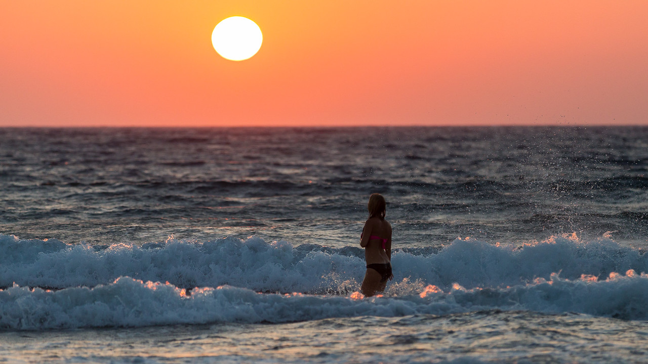 Prasonisi beach sunset, Rhodes