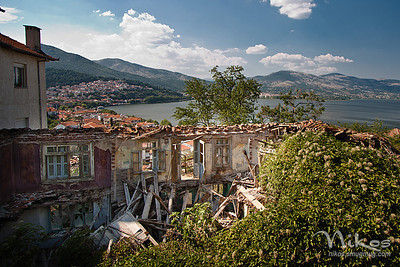 While driving through some streets in Kastoria, I found this house -- errr, what's left of it.