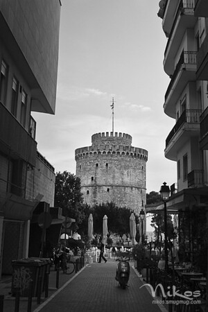 View of the White Tower from a side street.