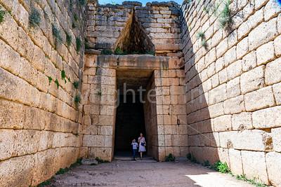 A tholos,  tomb of Clytemnestra