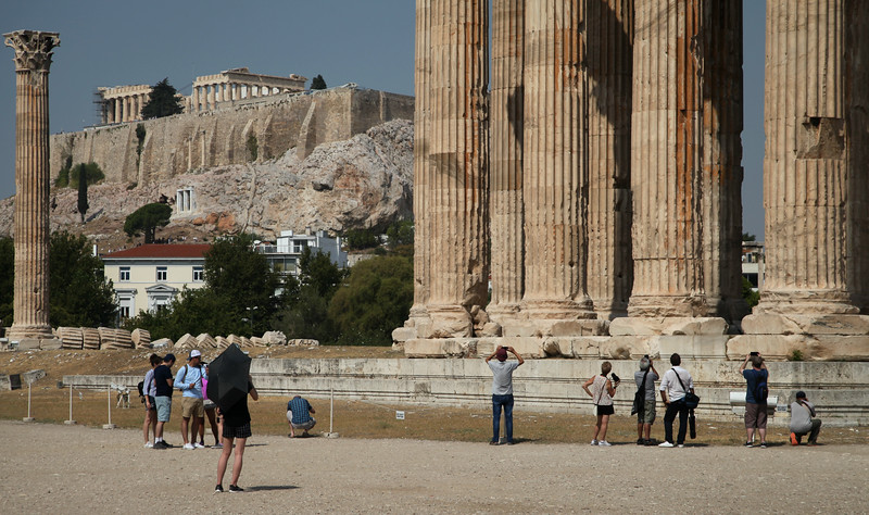Parthenon and Temple of Olympian Zeus.