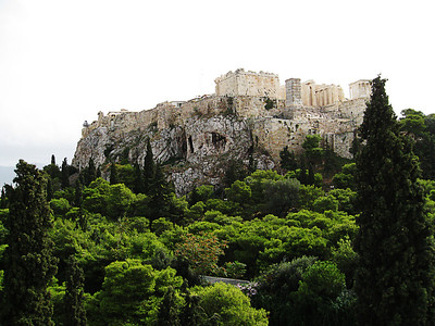 Acropolis, meaning side of the city.  The Parthanon is one of several temples that sits atop it.