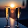 Honeymoon sunset - Santorini