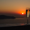 Santorini - Honeymoon cheers!