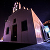 Church at night Santorini