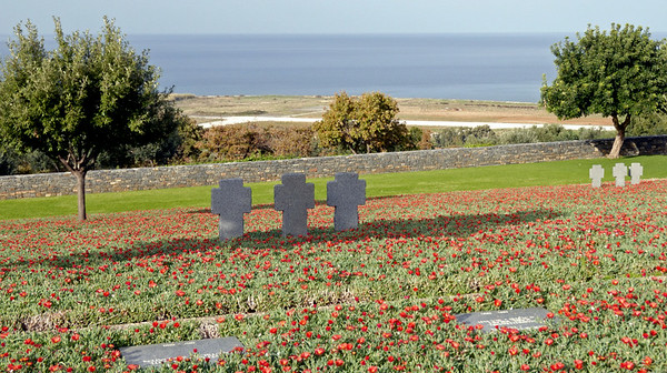 German war cemetry, Maleme, Crete, 26 December 2009 3.  Looking north to the Maleme airstrip.