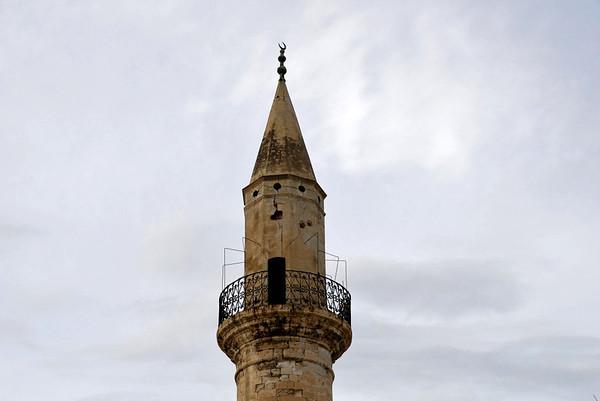 Minaret, Splantzia, Chania, Crete, 27 December 2009.    The second of Hania's two surviving minarets.