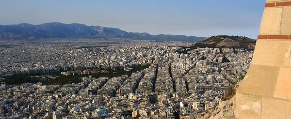 Ateena Likavittos-kukkulalta, 2004. View from Mount Lycabettus, Athens.