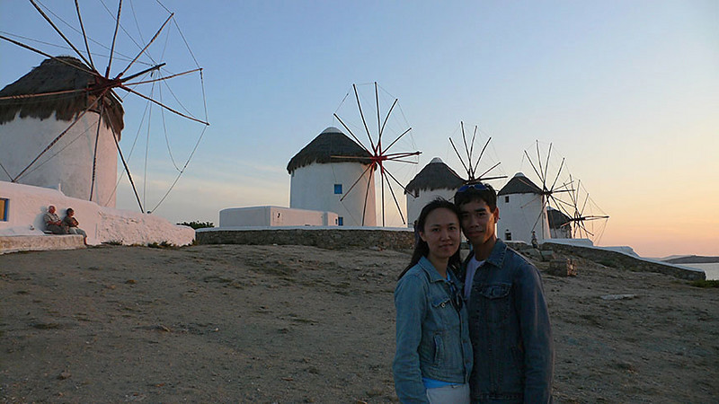 Another sunset at the windmills of Little Venice.