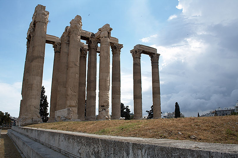 The ruins of the Temple of Zeus.