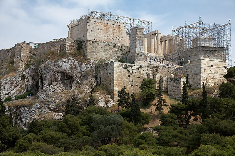 The Acropolis from atop a small hill.