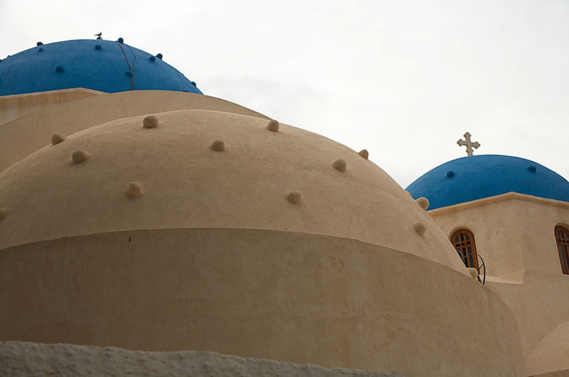 The church's domes.