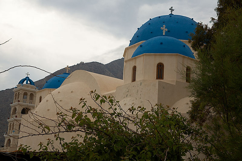 More blue domed churches.