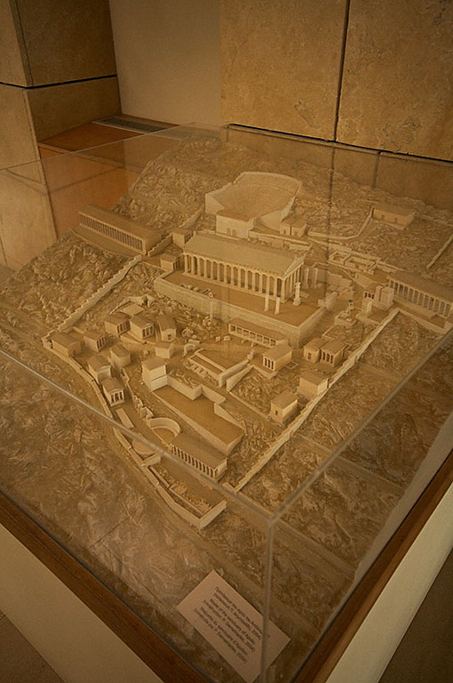 This model shows what the entire Sanctuary of Apollo once looked like.