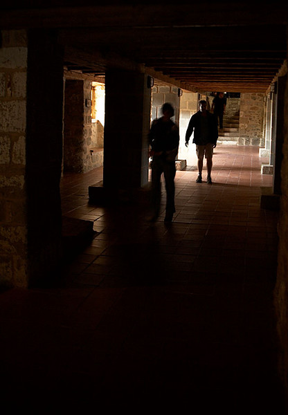 A corridor inside Moni Agias Triados.