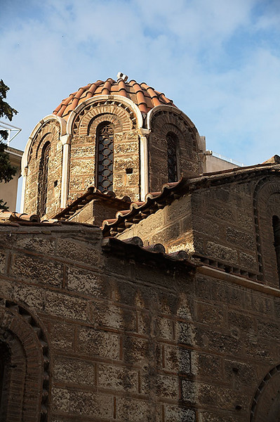 The Church of Kapnikarea. This church is located on Ermou Street, a big pedestrian shopping district. It is believed that the church was built in 1050.