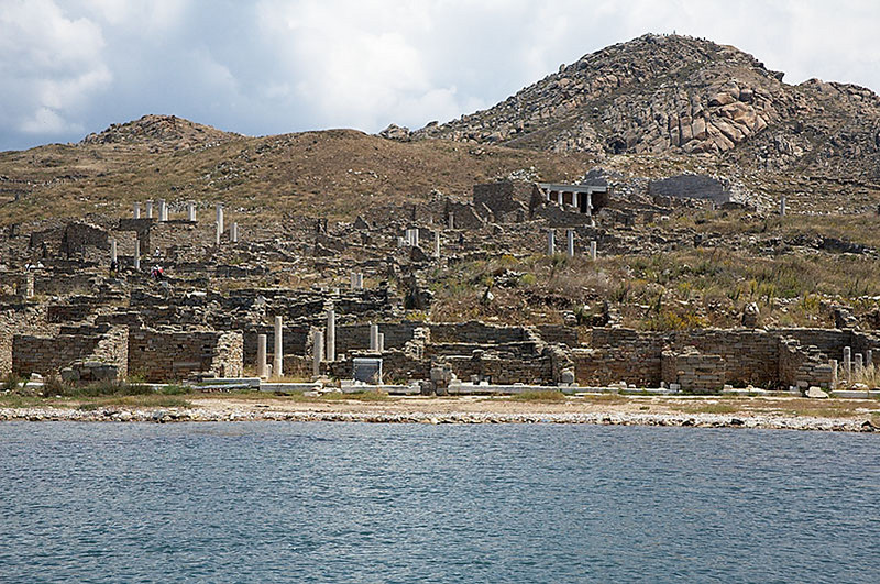 The island of Delos, believed to be the birth place of Apollo and his twin sister Artemis. Unfortunately, like many of the ancient sites in Greece, it was in ruins. It is a 30 min boat ride from Mykonos