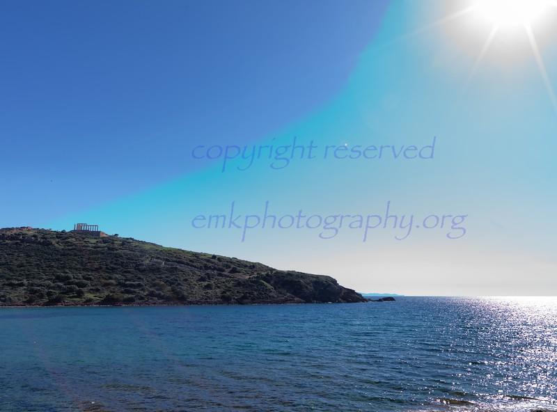 Greece Voulagmeni Sunion Temple of Poseidon