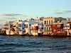 Little Venice at sunset in Mykonos