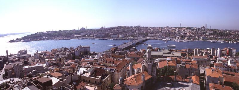 Istanbul cityscape view from Beyoglu