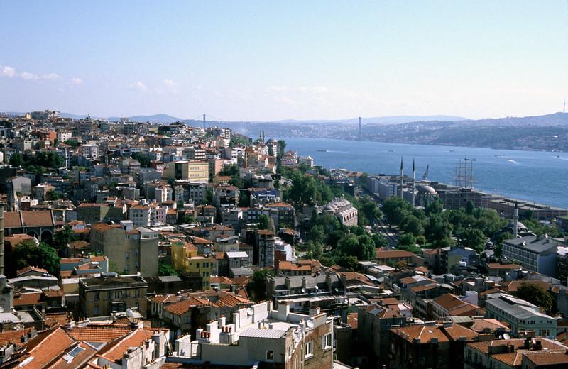 Istanbul cityscape from Beyoglu