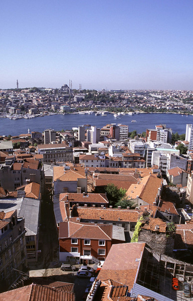 Istanbul cityscape view from Beyoglu