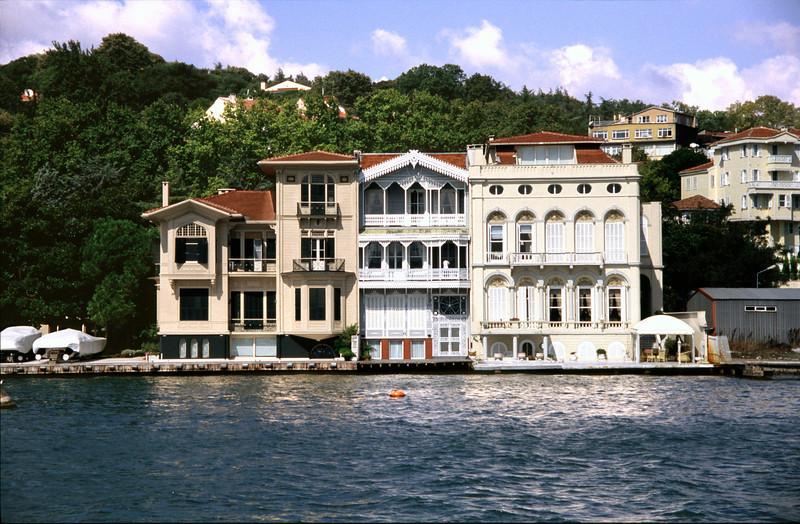 19th century villas on Bosphorus waterfront