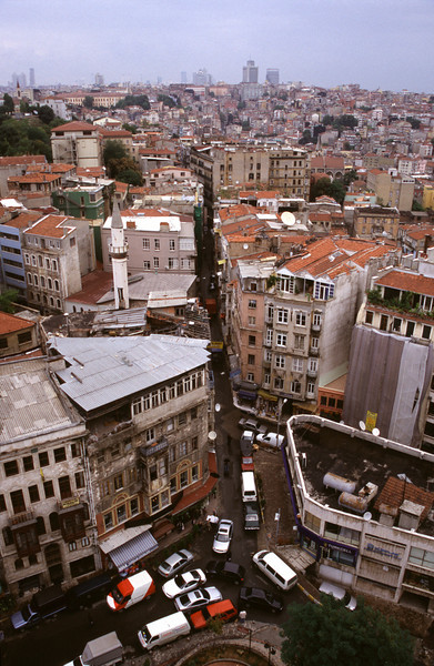 Beyoglu Istanbul view from Galata Tower