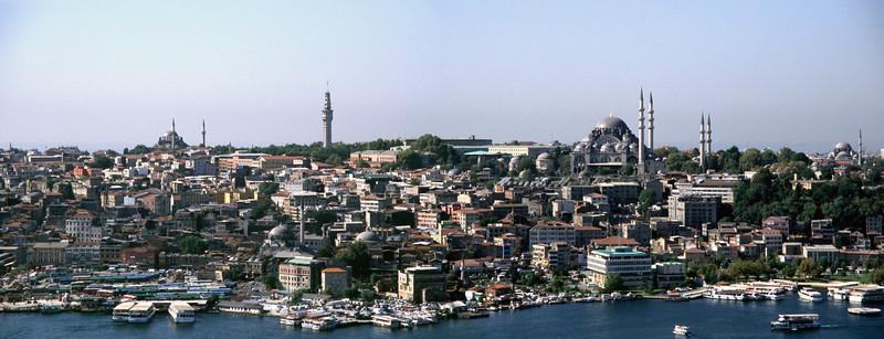 Panoramic Istanbul skyline
