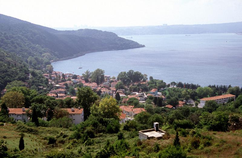 View over Anadolu Kavagi village on the Bosphorus Turkey