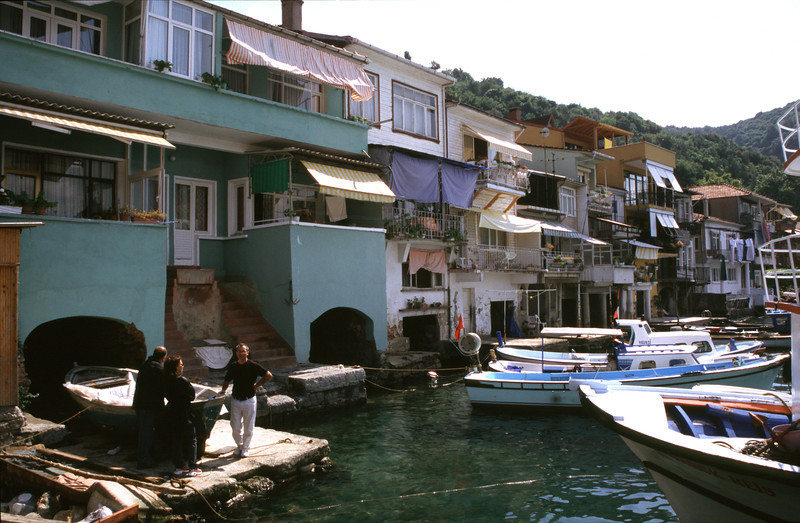 Harbour at Anadolu Kavagi on the Bosphorus Turkey