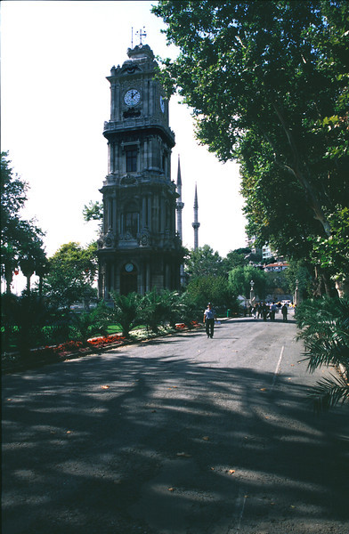 Clock Tower near Dolmabahce Palace Istanbul