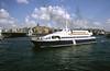 Sea bus catamaran at Eminonu Istanbul