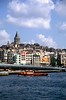 Galata Tower viewed across the Golden Horn Istanbul