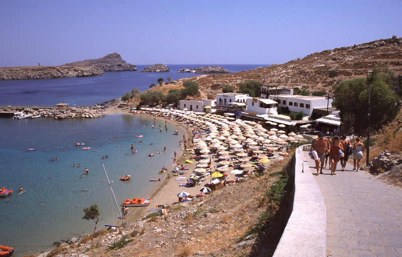 Lindos beachfront Rhodes Greece
