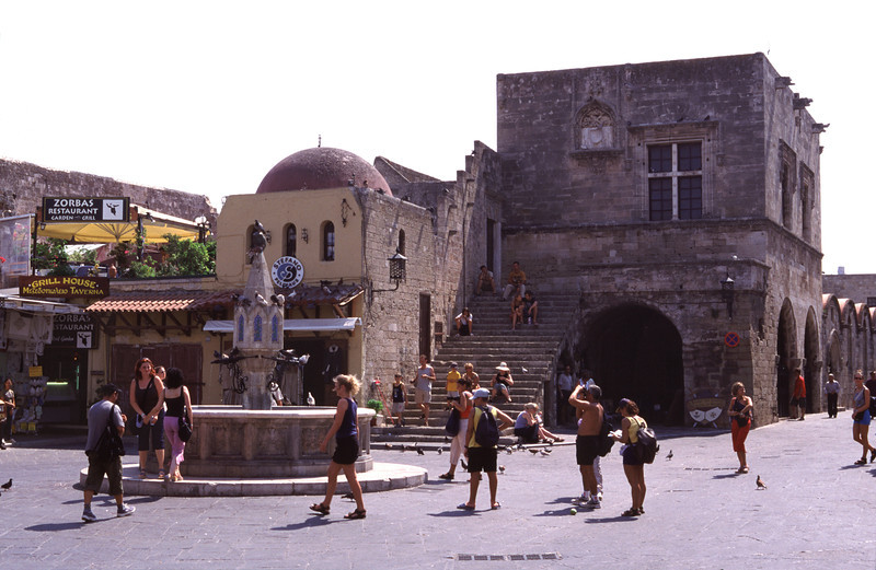 Plateia Ippokratus Rhodes City Old Town
