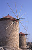 Windmills at Mandraki harbour Rhodes