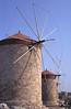 Windmills at Mandraki harbour Rhodes