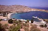 Lindos harbour Rhodes Greece