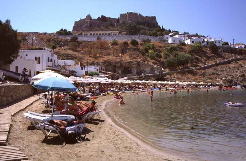 Lindos beach Rhodes Greece