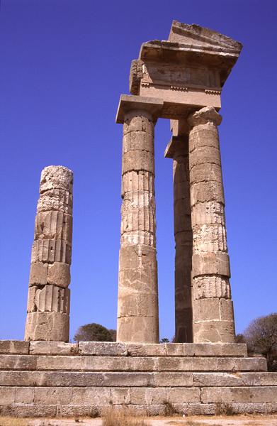 Temple of Pythian Apollo Acropolis of Rhodes Greece