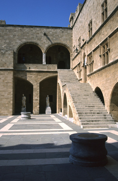 Courtyard of the Palace of the Grand Masters Rhodes City Old Town