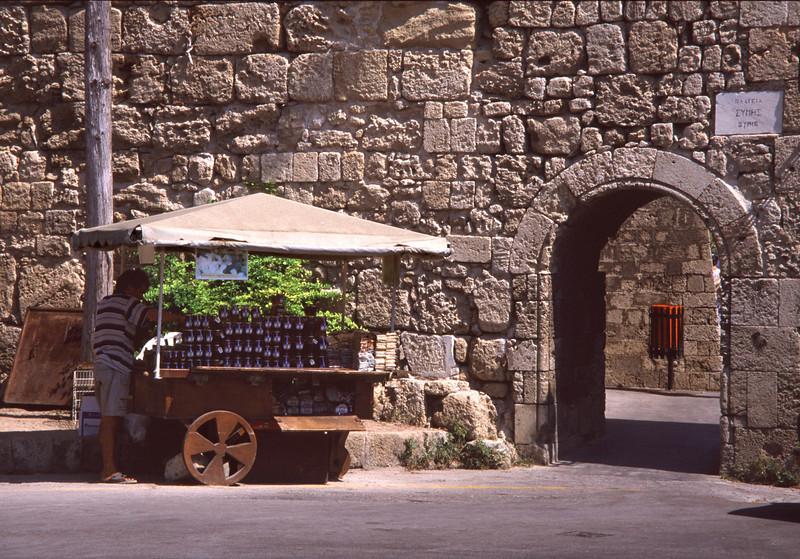 Street vendor Rhodes City Old Town Greece